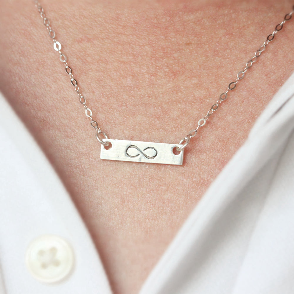 Load image into Gallery viewer, 925 Sterling Silver Infinite Love Infinity NECKLACE, silver Dainty Necklace, Infinite Love,Gift For Her