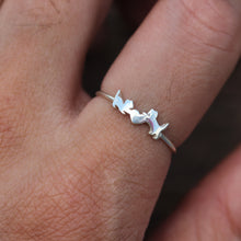 925 silver kids cat ring,silver dainty cat baby ring,family animal lover jewelry,animal pet ring