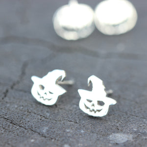 Load image into Gallery viewer, 925 sterling silver Halloween ghost earrings