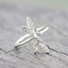 925 sterling silver Dragonfly ring,Insect jewelry,