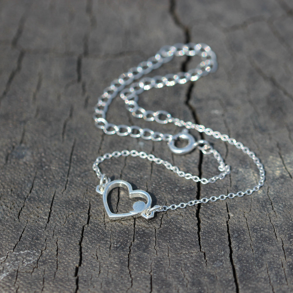 Load image into Gallery viewer, sterling silver Semicolon bracelet,heart bracelet,SUICIDE AWARENESS jewelry,everyday bracelet,Your Story Isn't Over