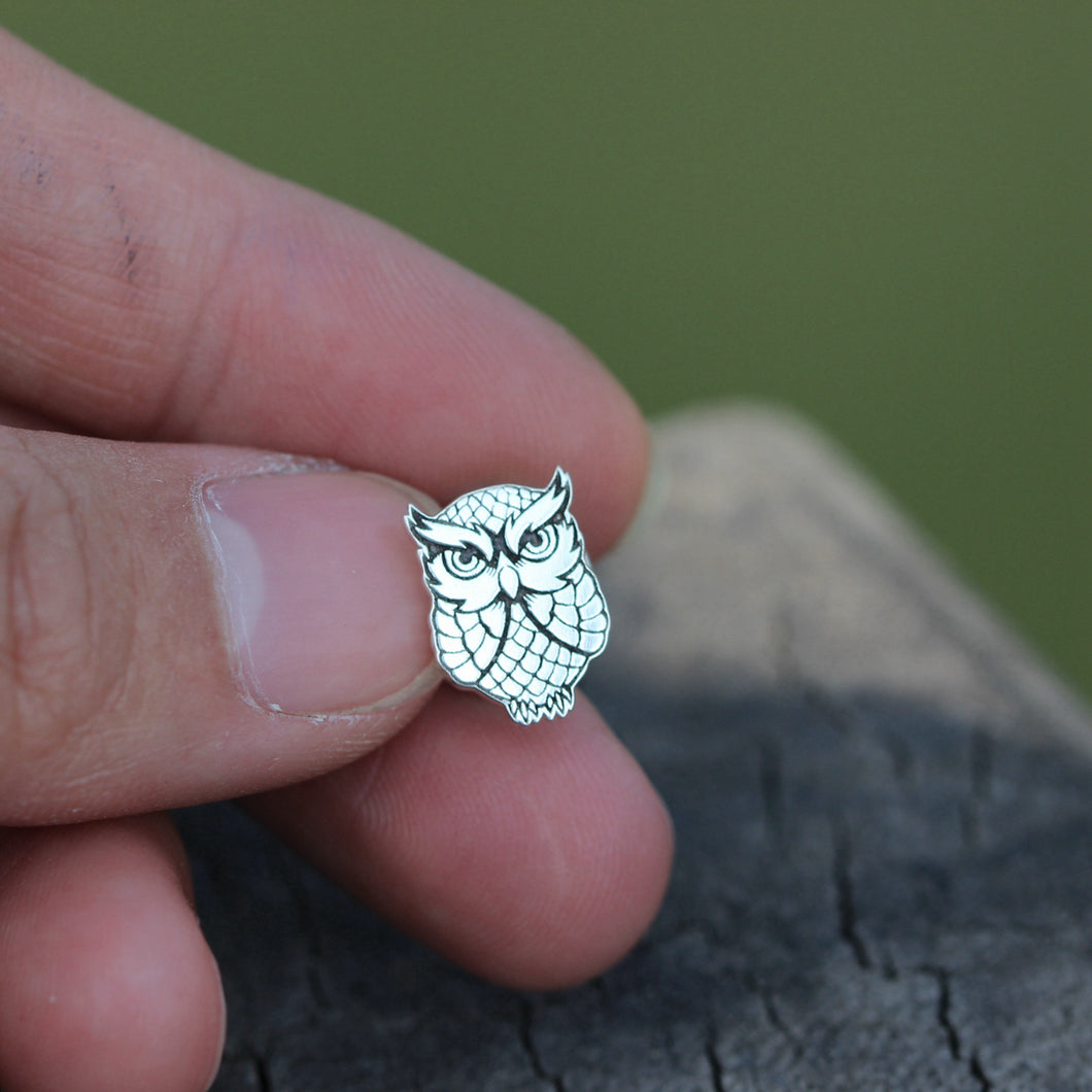 sterling silver lucky owl brooch