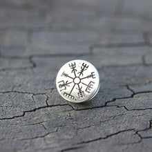 sterling silver Vegvisir Brooches,silver rune Brooches,Viking rune Brooches,Valknut Norse Viking Symbol inspired jewelry,gift idea for her
