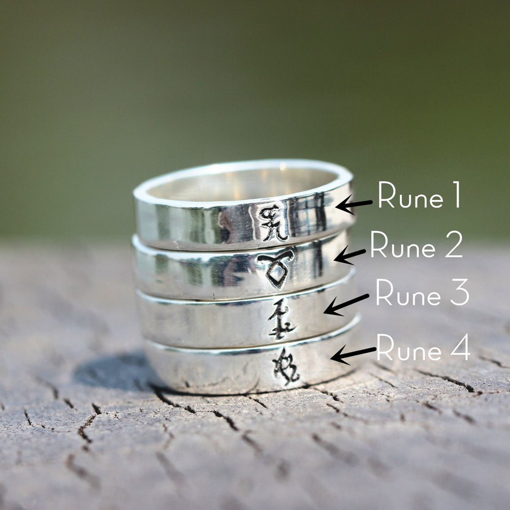Load image into Gallery viewer, 925 sterling silver Power runes ring,Parabatai Rune ring,silver ring,rings,Healing runes ring,Love Rune ring,dainty rings,silver rune rings