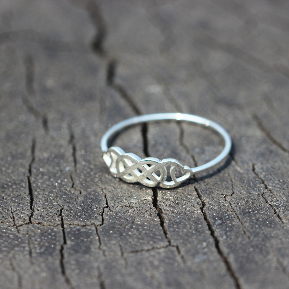 silver Double Infinity Ring,Double Infinity Symbol With Hearts ring,silver infinite ring,ring,jewelry,love ring,heart jewelry,love gift ring