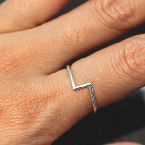 Load image into Gallery viewer, Danity silver ring,minimalist ring,rings,gift for her,simple ring silver jewelry