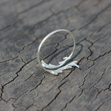 sterling silver Deer Antler Ring,Deer Antler Wrap Ring,Mule Deer Antler Ring,Deer head Ring,Silver Antler Jewelry,Boho ring,Forest Jewelry