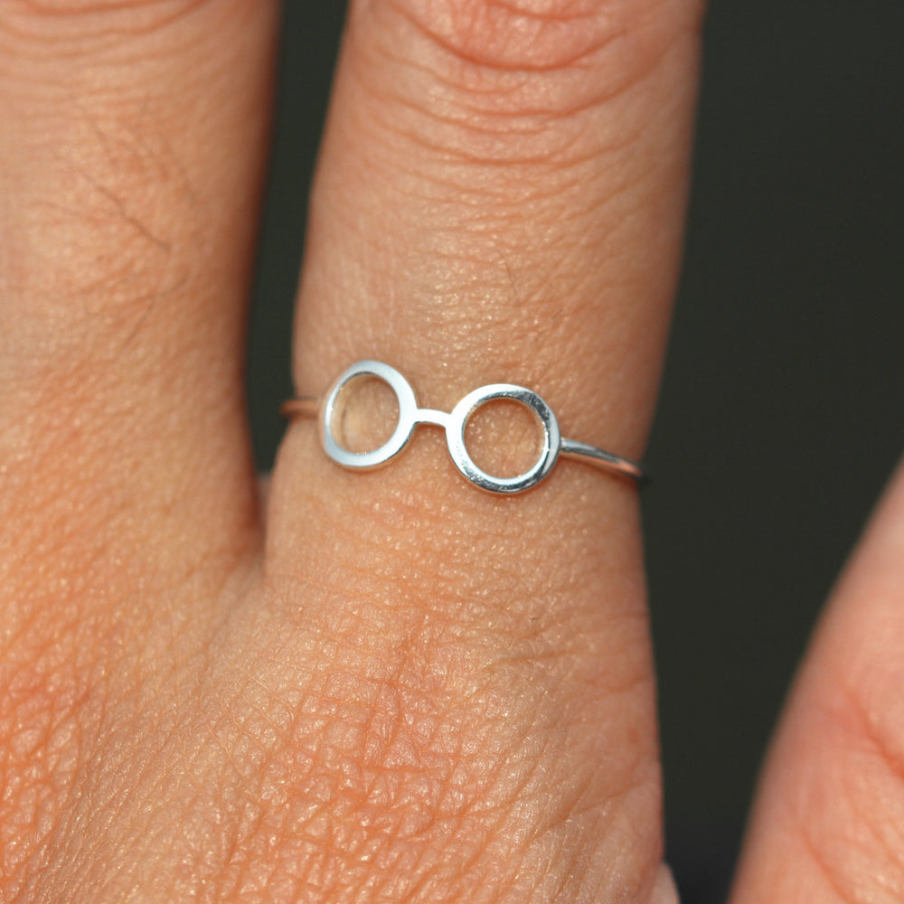 Glasses Ring, Sterling SilverRing,Glasses Ring Silver,Eyeglasses ring,sunshades ring,Summer ring