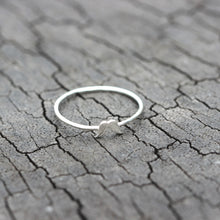 tiny mustache ring,sterling silver midi ring,silver Stackable Ring,mini jewelry,Handmade Minimalist jewelry,1mm