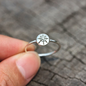 Load image into Gallery viewer, 925 silver Star Of Chaos ring,Chaos Star Ring,Chaos Signet Ring,Wheel of Chaos jewelry,magic star ring,inspried jewelry