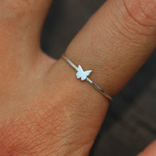 sterling silver tiny Butterfly ring,dainty silver butterfly ring,animal lover ring,tiny jewelry