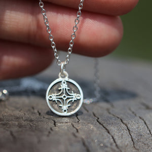 Load image into Gallery viewer, 925 silver Seal of the Sun charm necklace,Sun Seal necklace,Protection necklace, Solomon's seal jewelry,amulet Wicca talisman jewelry