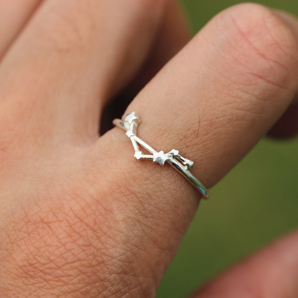 Load image into Gallery viewer, 925 sterling silver LIBRA ring,LIBRA jewelry,star ring silver,Zodiac Ring,Astrology Sign Ring,Fine Silver Ring,handmade jewelry,gift idea