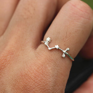 Load image into Gallery viewer, 925 sterling silver Scorpio ring,Scorpio jewelry,star ring silver,Zodiac Ring,Astrology Sign Ring,Fine Silver Ring,handmade jewelry