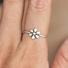 Sterling Silver sunflower ring,silver sunflower ring,girl jewelry,Stacking Ring,summer Ring,gift idea for her