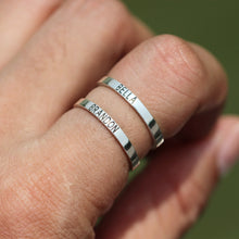 leave note - Personalized name ring,925 silver ring,ring,custom word ring,you and me ring,his and hers ring,gift for mother,birthday jewelry