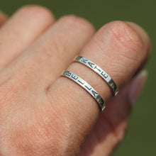 leave note - Personalized name ring,925 silver,custom word ring,initial ring,letter jeewlry,you and me ring,his and hers ring,birthday jewelry