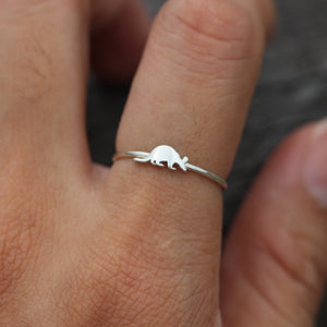 Load image into Gallery viewer, solid 925 silver Aardvark ring,Ant bear ring,antbear,Giant Anteater,Anteater jewelry,friendship jewelry,animal lover jewelry