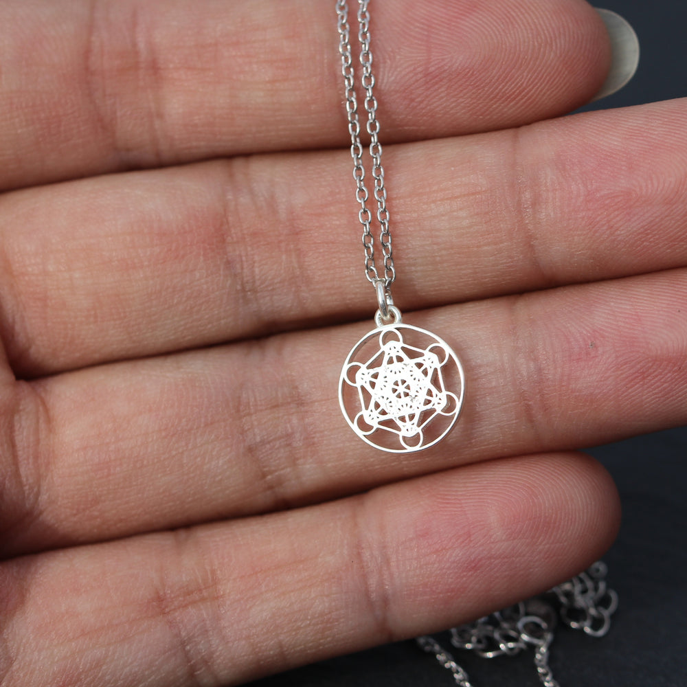 metatrons cube necklace,solid 925 sterling silver Sacred Geometry necklace,Seed of Life necklace,Mandala necklace,Angel Talisman Jewelry