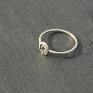 Load image into Gallery viewer, solid 925 silver moon and star ring,silver moon ring,star ring,Mommy and Me ring,Mom Gift for Daughter,Mother Daughter Gift