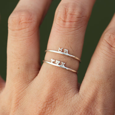 leave note - Personalized Celestial Constellation ring,family Zodiac ring,custom silver ring,Aries,Taurus,Gemini,Cancer,Leo,Virgo,Libra,Scorpio,For her