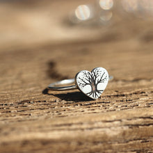 solid 925 silver Pine Tree Ring Sterling Silver Evergreen Tree Jewelry,heart ring,Nature Ring Forest Ring Nature Jewelry ,Tree Ring silver