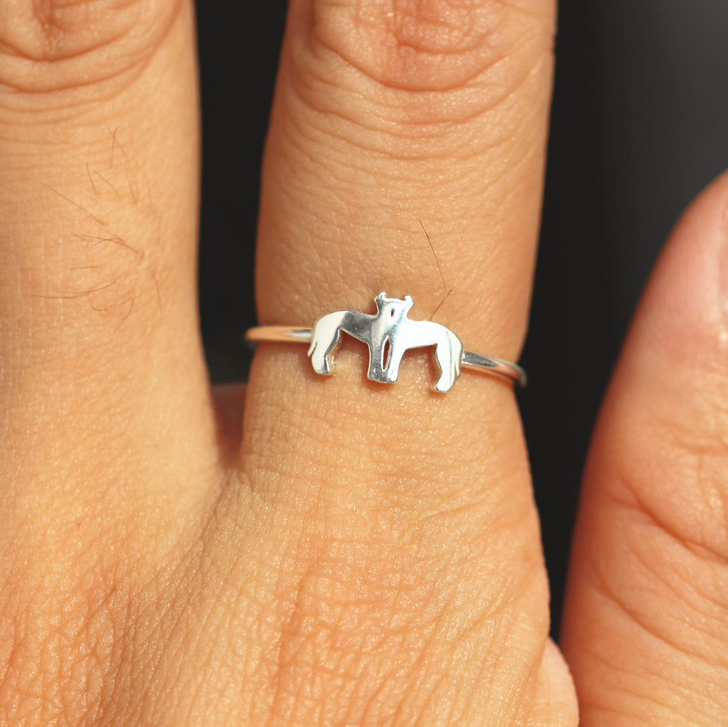 sterling silver kiss Greyhound dog ring,Greyhound jewelry,silver family jewelry,rings,Animal Rings,animal lover jewelry,beagle jewelry