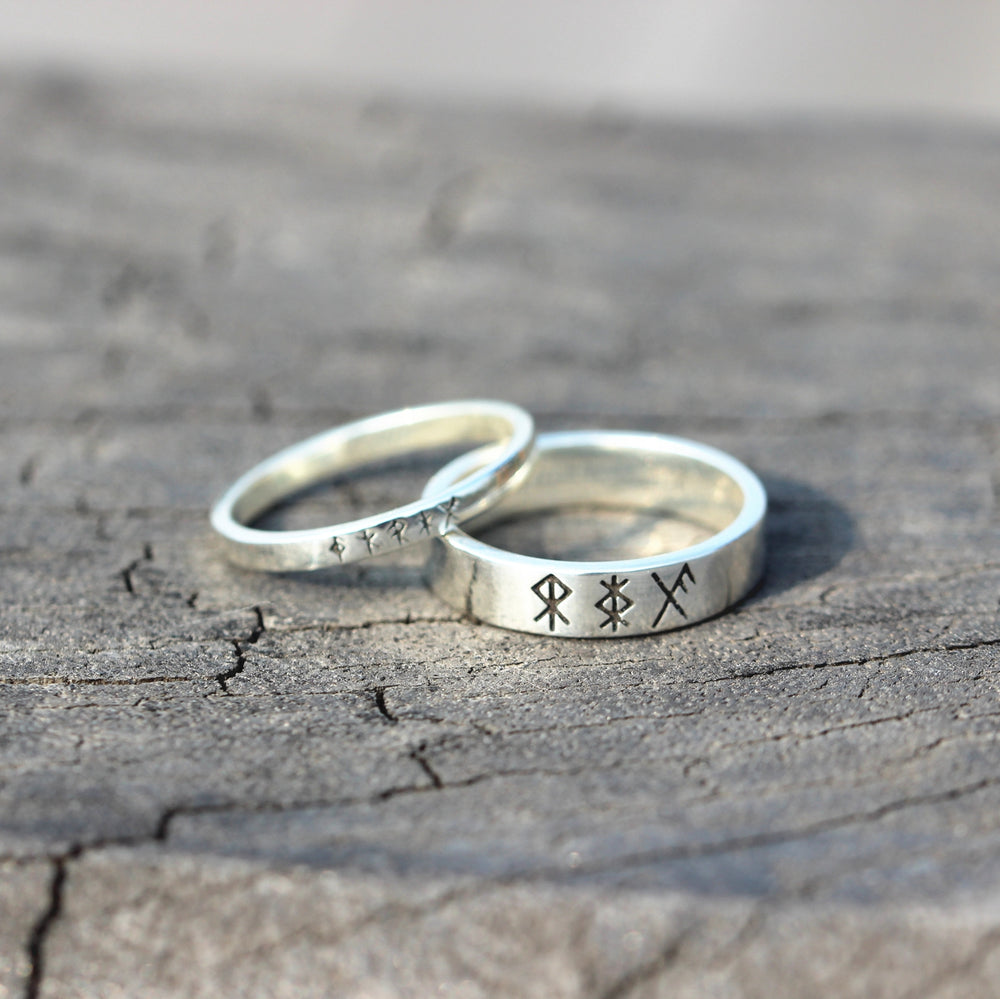 leave note - Custom bind Rune ring,solid 925 silver band ring,Personalized runes jewelry,RING,Energy rune,Safe Travel,good luck jewelry,courage rune