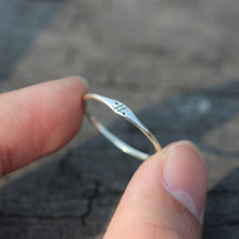 The past does not equal the future,Inspirational ring,Motivational jewelry,sterling silver tiny ring,ring,simple silver ring
