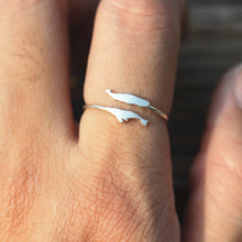 sterling silver tiny whale ring,silver ring,ring,silver ocean ring,you and me ring,he and her jewelry,midi fish ring,animal lover jewelry