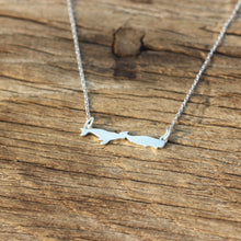 925 silver whale necklace,silver necklace,silver ocean jewlery,you and me necklace,he and her jewelry,midi fish ring,animal lover jewelry