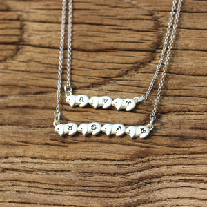 Load image into Gallery viewer, leave note - solid 925 silver Bunny Rabbit necklace,Personalized bunny jewelry,sterling silver bunny necklace,custom zodiac necklace,silver sister jewelry