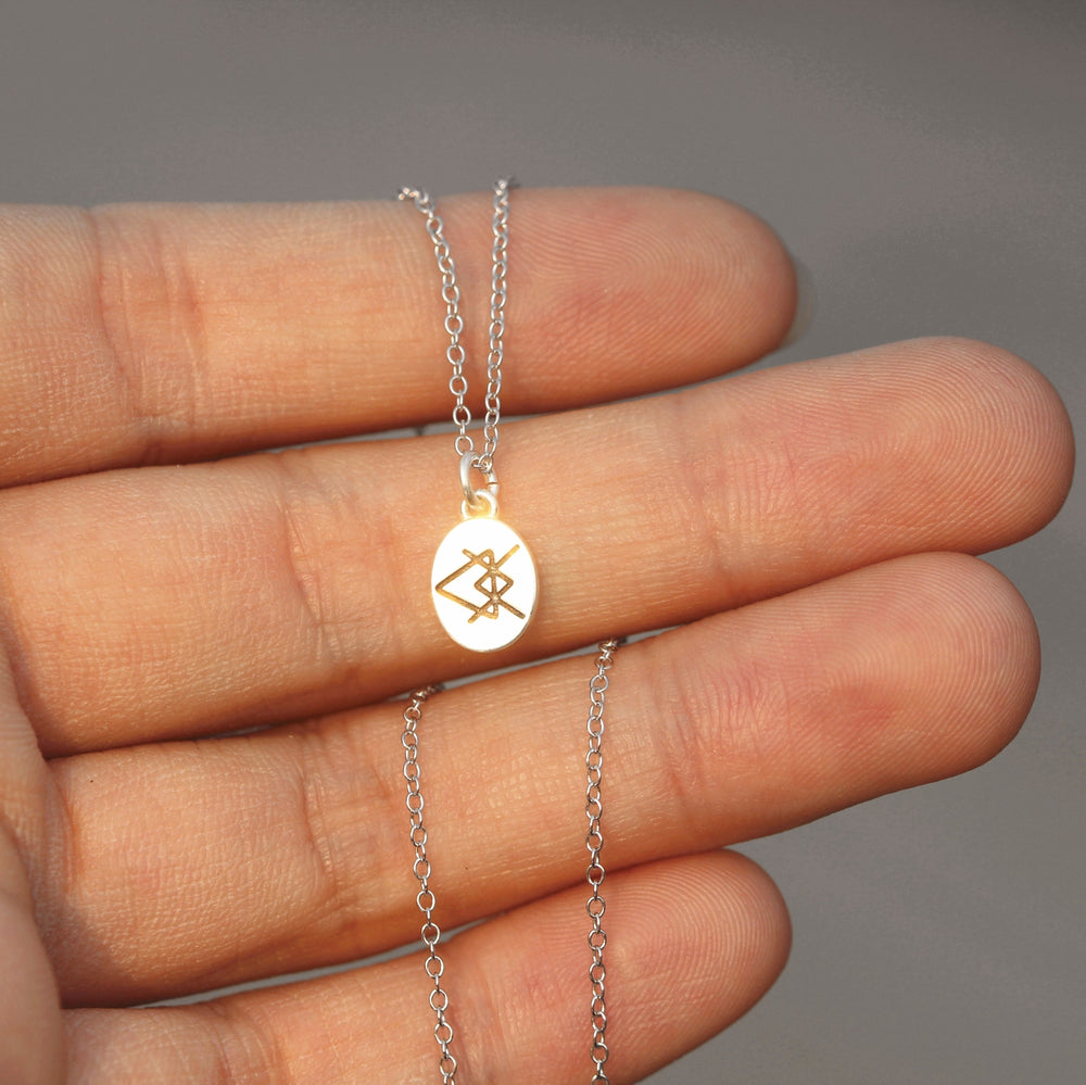 925 sterling silver Love runes necklace,silver Rune necklace,Love Rune jewelry geek jewelry