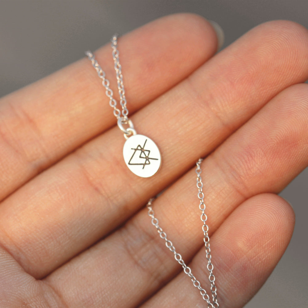 Load image into Gallery viewer, 925 sterling silver Love runes necklace,silver Rune necklace,Love Rune jewelry geek jewelry