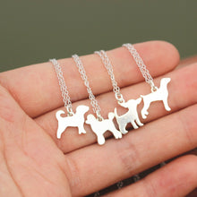solid 925 silver custom dog necklace,Puppy necklace,family dog necklace,dog necklace,Dog Lover necklace,beagle jewelry