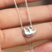 Sterling silver sea otter necklace,Animal Jewelry,Animal Lover Gift,gift for her