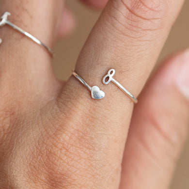 Personalized Number Numeric Ring,Arabic number ring,Custom Number Jewelry,sterling silver Stacking Ring,adjustable ring,midi ring,Bridesmaid jewelry