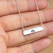 Custom family cat necklace,sterling silver Pet lover Necklace,personalized cat jewelry,cat lover gift,silver bar necklace,gift idea