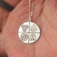 925 sterling silver 4 Nations Avatar: The Last Airbender necklace