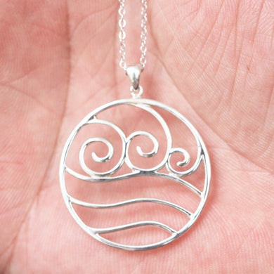 silver Avatar The Last Airbender NECKLACE Water Bender necklace,Fire Nation necklace,Earth Kingdom,Air Nomal necklace