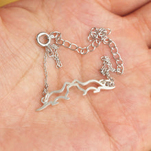 silver kissing Sea Otters bracelet, Lover otter bracelet,Sterling Silver Otter bracelet,his and her jewelry,Gift for Her,Mother Daughter jewelry