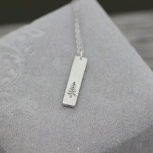 Silver Tree bar Necklace Evergreen Tree Necklace Tree Pendant Sterling Silver Pine Necklace Winter Tree Winter Tree Necklace Necklace