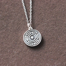 Sterling silver Hekate's magic Strophalos necklace Wheel of Hecate symbol talisman choker sharm amulet medallion talisman sin