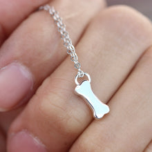 Tiny Dog Bone Necklace I like bone jewelry