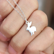 Bunny Rabbit Necklace ,,tinny bunny jewelry,sterling silver bunny necklace,