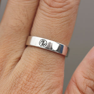 Load image into Gallery viewer, Kente Gye Nyame jewelry Sterling Silver ring The Supremacy of God ring gift idea