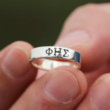 silver Initial ring,customs Greek ring,Greek Letter ring,Personalized Greek ring,Psi Necklace,phi ring, custom ring