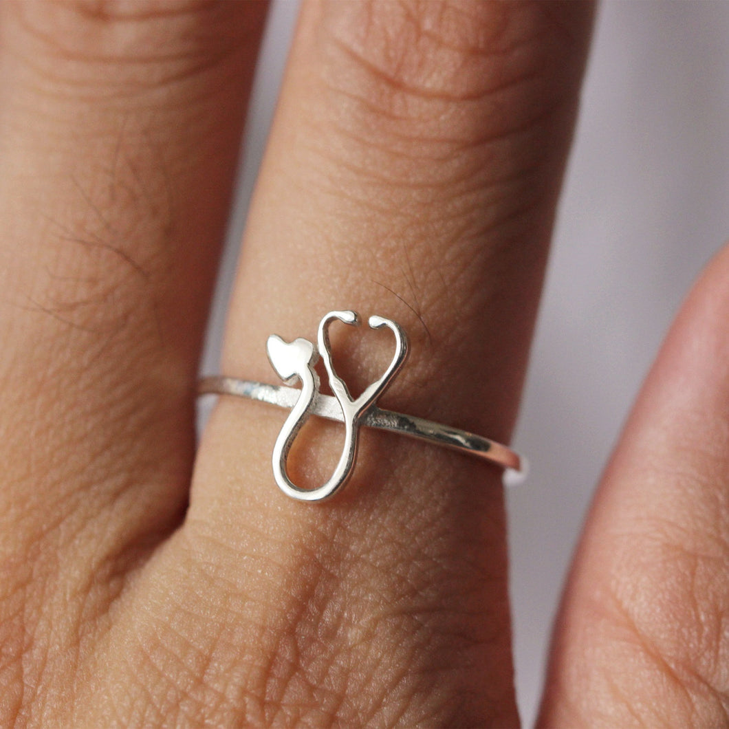 Graduation Gift,Stethoscope ring,Medical Student Gift,Nurse Gift,Doctor Gift,Dainty ring,gift idea