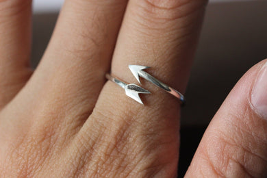 Sterling silver Arrow ring, dainty ring, delicate silver ring, open simple ring, special gift, cute ring, charm ring