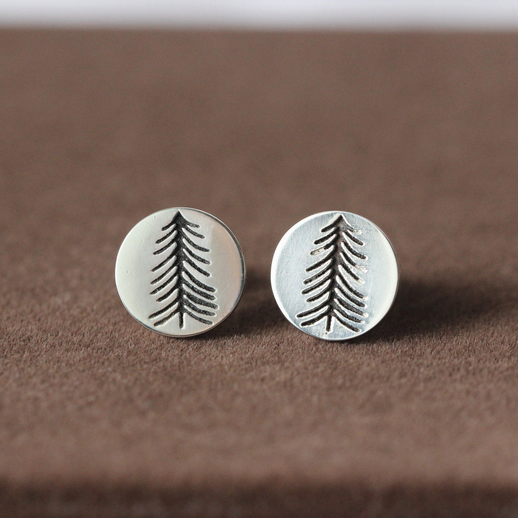 Evergreen Tree earrings, Northwoods Pine Tree earrings, Pine Tree earrings, Tree earrings, Sterling Tree earrings, Womens silver earrings,